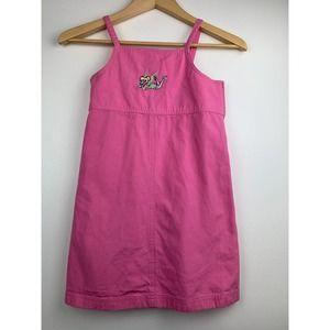 Disney Girl's Dress Embroidered Tinklerbell